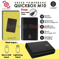 POWERBANK UNEED QUICKBOX M10 10000mAh QUICK CHARGE 3.0 POWER BANK