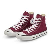 Sepatu sneakers converse boot tinggi pria casual santai non ori Maroon