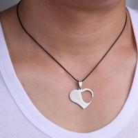 (Diskon) Kalung Couple Two Heart Puzzling Baru impor - Perak