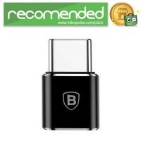 Baseus Micro USB Female to USB Type C OTG Adapter - CAMOTG-01 - Hitam