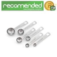 Sendok Takar Ukur Stainless Steel 6PCS - Silver
