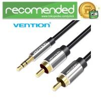 Vention Kabel 3.5mm Male ke 2 RCA Male HiFi - 500 CM - Hitam