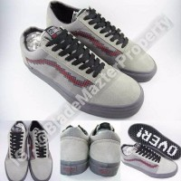 Jual Sepatu Kets Vans Old Skool X Super Nintendo Console Dark Grey Purple Murah