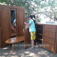 Custom Furniture Ibu Mei Jakarta, Meja, Trembesi, Lemari, Bufet Jati