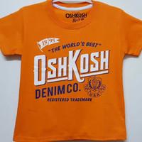 Baju kaos karakter anak laki-laki Oshkosh orange 1-6
