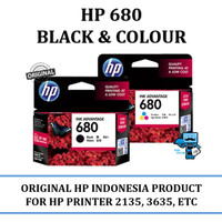 Tinta HP 680 Black and Colour Original Ink Advantage Cartridge