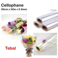 Cellophane 60cm x 50m x 0.6mm - plastik parsel - hampers - kado