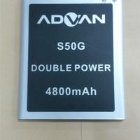 Baterai Advan S50G / Double Power / Ori / battrey / batrai / batre hp