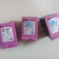 cartridge printer hp 802 color ori kosongan/bekas