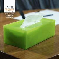 kotak tissue hijau / kotak tissue akrilik / tempat tissue s1