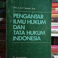 Jual Pengantar ilmu hukum dan tata hukum indonesia. buku original Murah