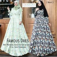 Gamis Motif Famous Dress Ori Naura Tanpa Pashmina - pbv110