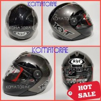 HELM KYT X ROCKET BLACK GUN METAL FULL FACE XROCKET
