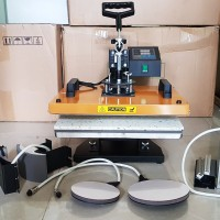 Mesin Press Kaos 6 In 1 Digital All In One Alat Hotpress Sablon Baju
