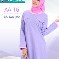 Atasan Alnita AA 15 biru two tone