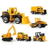 Mainan Anak 6 Buah Mobil-Mobilan Truck Konstruksi Diecast - MA005