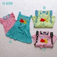Pakaian anak perempuan setelan kaos overall rok lucu anak bayi perem