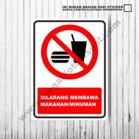 Harga sticker larangan dilarang membawa makanan dan | antitipu.com