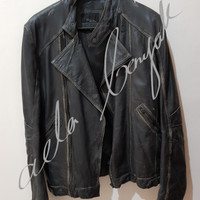 Original Zara Man Genuine Leather Jacket / Jaket Kulit Zara