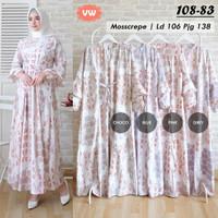Baju Muslim Wanita Dewasa Gamis Motif Dress Clarissa Koleksi Terbaru