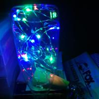 Lampu hias bentuk botol kaca, cahaya warna warni