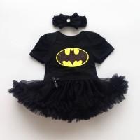 Newborn Baby Girl Batman Dresses Infant Romper Bodysuit Costume Black