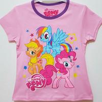 Baju kaos karakter anak little pony 7-10