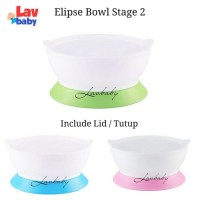 New stage 2 - Elipse Kids Suction Bowl with Lid STAGE 2 mangkok anti
