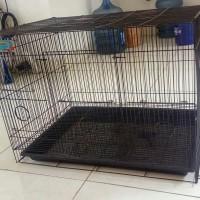 Kandang Besar Besi lipat untuk anjing / kelinci /kucing/burun