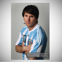 Poster dinding - hiasan - seni cetak - LEONEL MESSI Argentina 2010