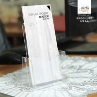 TERMURAH / Tempat brosur akrilik / Display brosur 1/3 A4