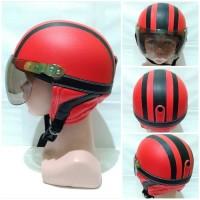 Helm Anak - Anak Keren Model Retro Polos [1 - 5 Tahun] - Merah