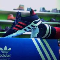 Sepatu Adidas Pria Running Sport Premium Navy