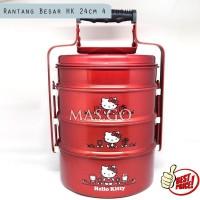 Rantang 4 Susun Maspion Hello Kitty Aluminium Red Besar 24cm
