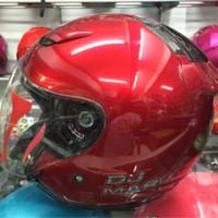 HELM KYT DJ MARU SOLID Merah Maroon / Red maroon