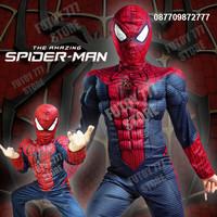 Baju kostum anak Spiderman Spider man superhero super hero ulang tahun