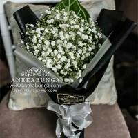 Buket Bunga Baby Breath Asli Fresh Hand Bouquet Flower Wedding Bucket
