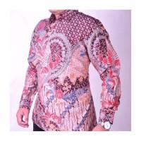 Kemeja Size L motif 5 batik tulis baju pria sutra tenun ATBM