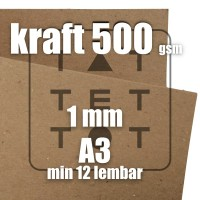 board kraft karton 500 gsm A3 craft box card kartu hang tag tebal 1 mm