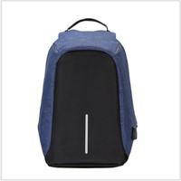 Tas kerja ransel laptop besar backpack unisex canvas Batam blue biru