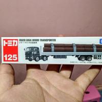 miniatur Diecast alat berat takara tomica long 125 isuzu giga wood