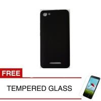 Case for Infinix Hot 2 / X510 - Slim Soft Case - Hitam + Temp Glass
