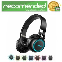 PICUN Gaming Wireless Bluetooth Headphone 7 Color Ring with TF & Mic