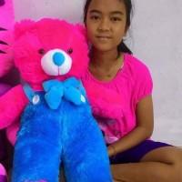 Harga boneka beruang teddy bear jojon xl pink fanta biru coklat cream