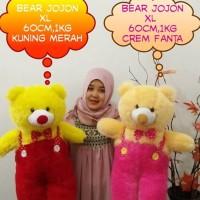 BONEKA BERUANG TEDDY BEAR JOJON XL KUNING MERAH CREAM PINK FANTA NAMA