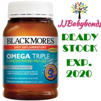 Jual Blackmores Omega 3 Triple Concentrated Odourless Fish Oil 150 kapsul Murah