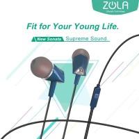 ZOLA New Sonata In-Ear Earphone Sound Isolation Deep BASS - Black