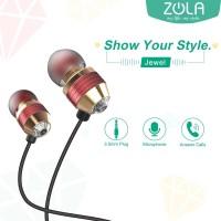 ZOLA Jewel Stylish In-Ear Earphone Handsfree Sound Isolation-White