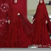 C13 Baju Gamis Syari Nabila Brukat Busui Jumbo Ukuran XXL Warna Merah