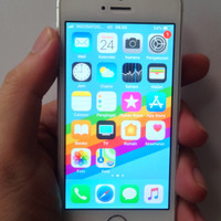 HP Second iPhone 5S-4G Silver 32GB Ex iBox Resmi 99% Mulus LIKE NEW!!